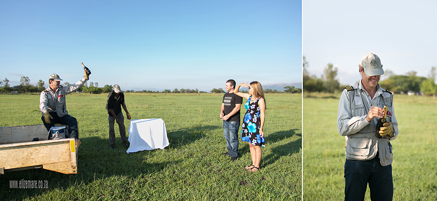 Elize Mare Photograpy Bill Harrop Balloon Safari Engagement Shoot