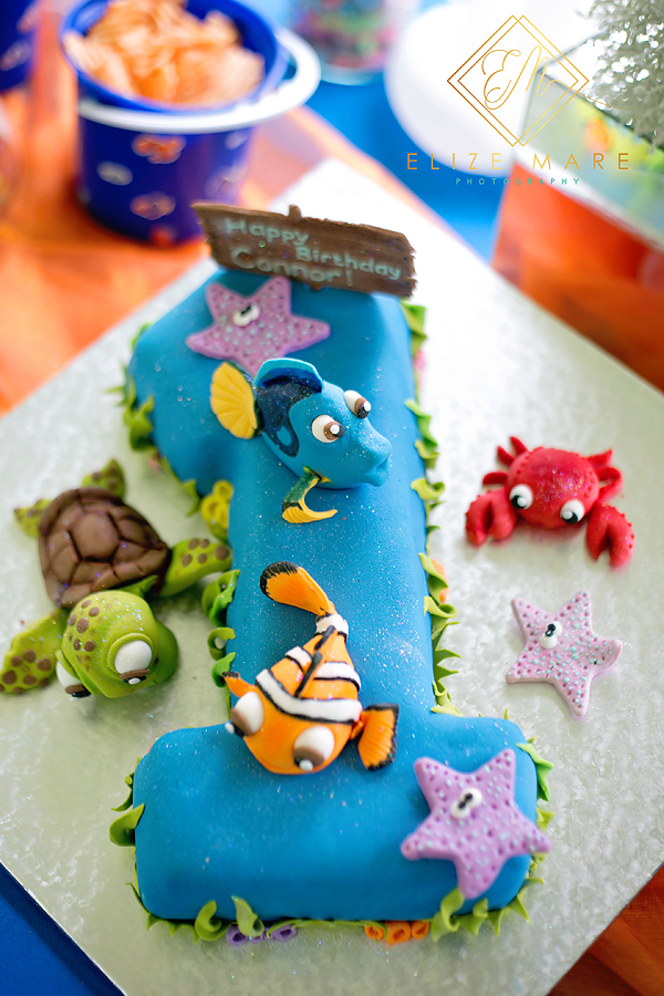 Elize Mare Photography Finding Connor 1st Birthday Finding Nemo theme