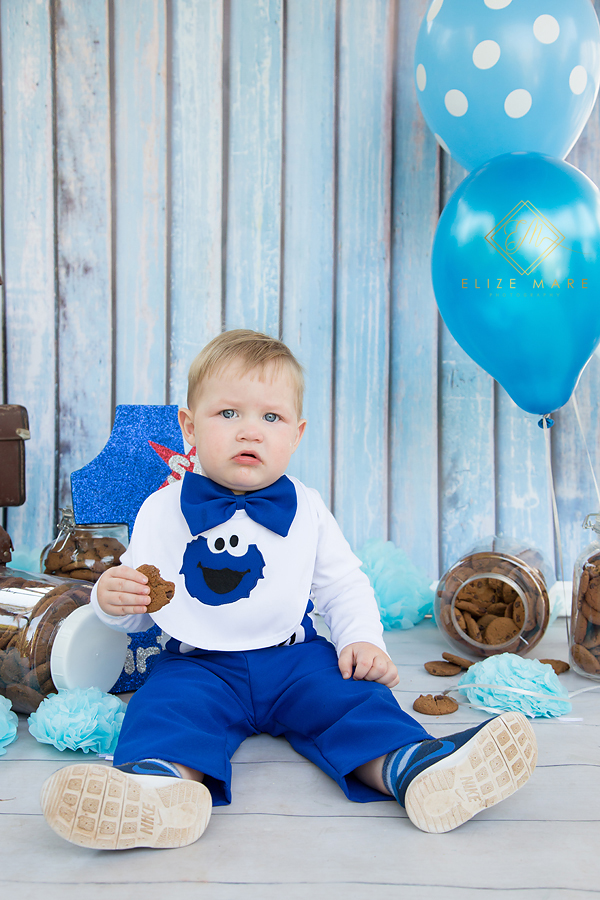 Elize Mare Photography Cookie Monster Cake Smash