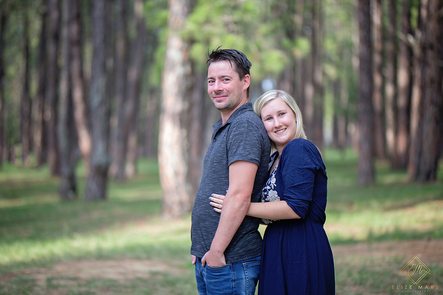 Elize Mare Photography Bryanston Pine Forest Engagement shoot