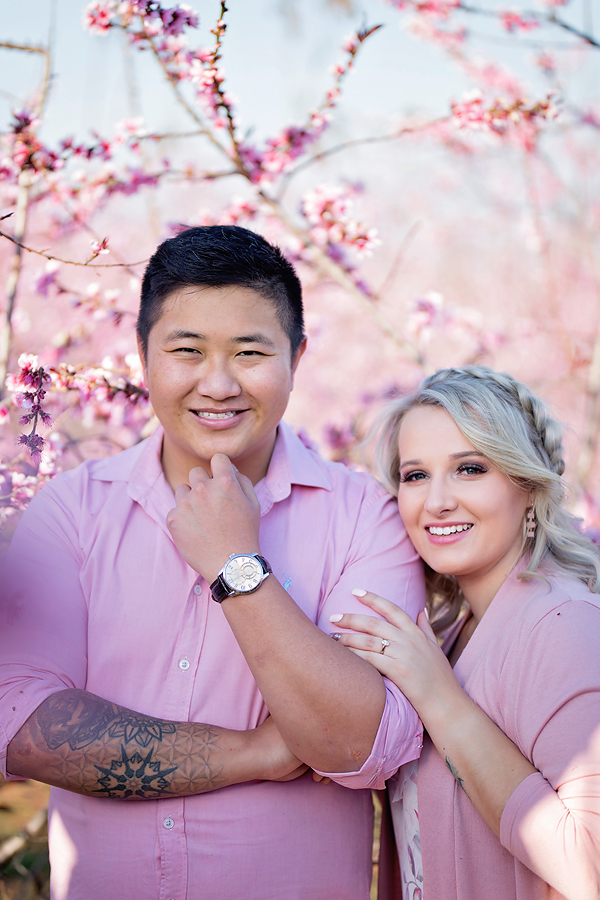 Elize Mare Photography Cherry Blossom Engagement Shoot